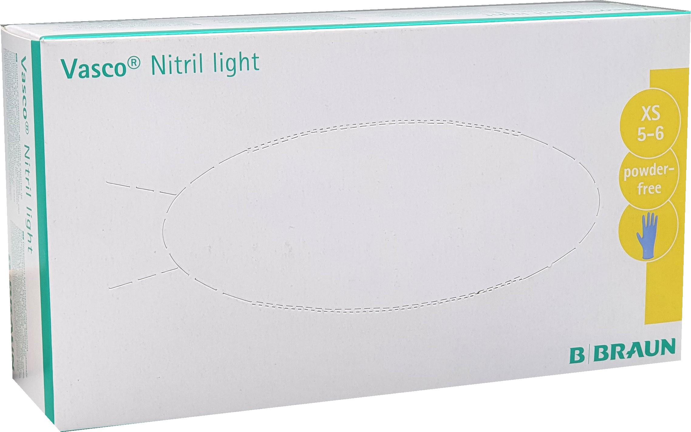 Untersuchungshandschuhe Nitril Vasco light XS