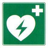 Rettungszeichen AED Schild