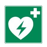 Rettungszeichen AED Aufkleber