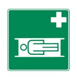 Rettungszeichen Krankentrage nachleuchtend